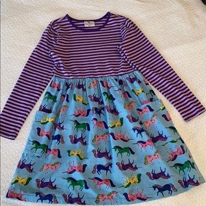 Hanna Andersson Unicorn dress in Size 130